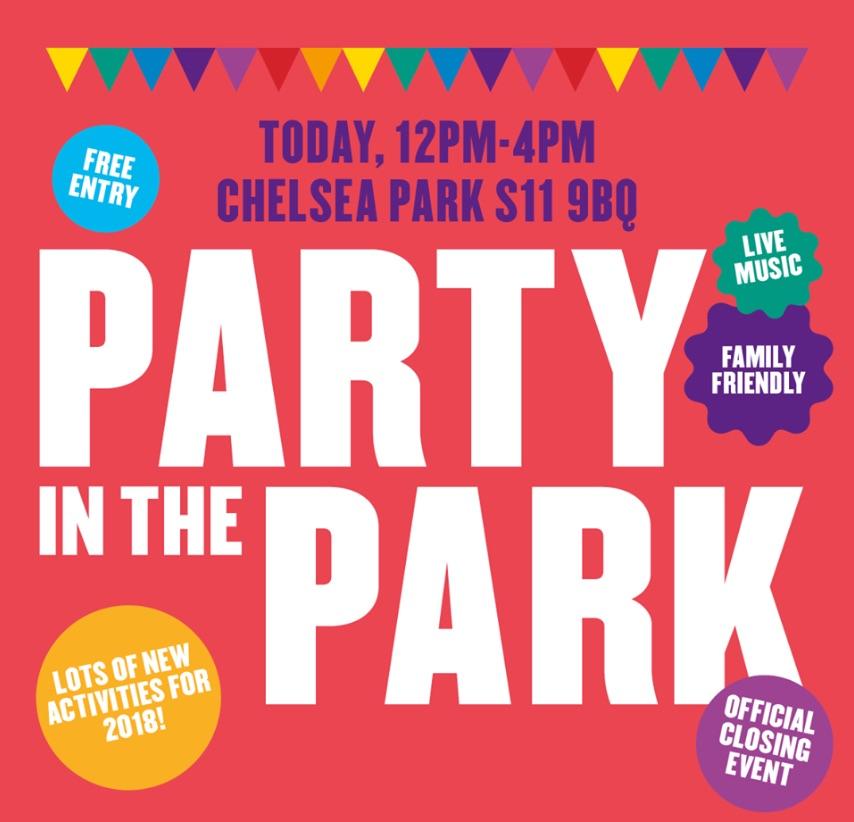 Party in the Park 2018 12pm - 4 pm Chelseas Park