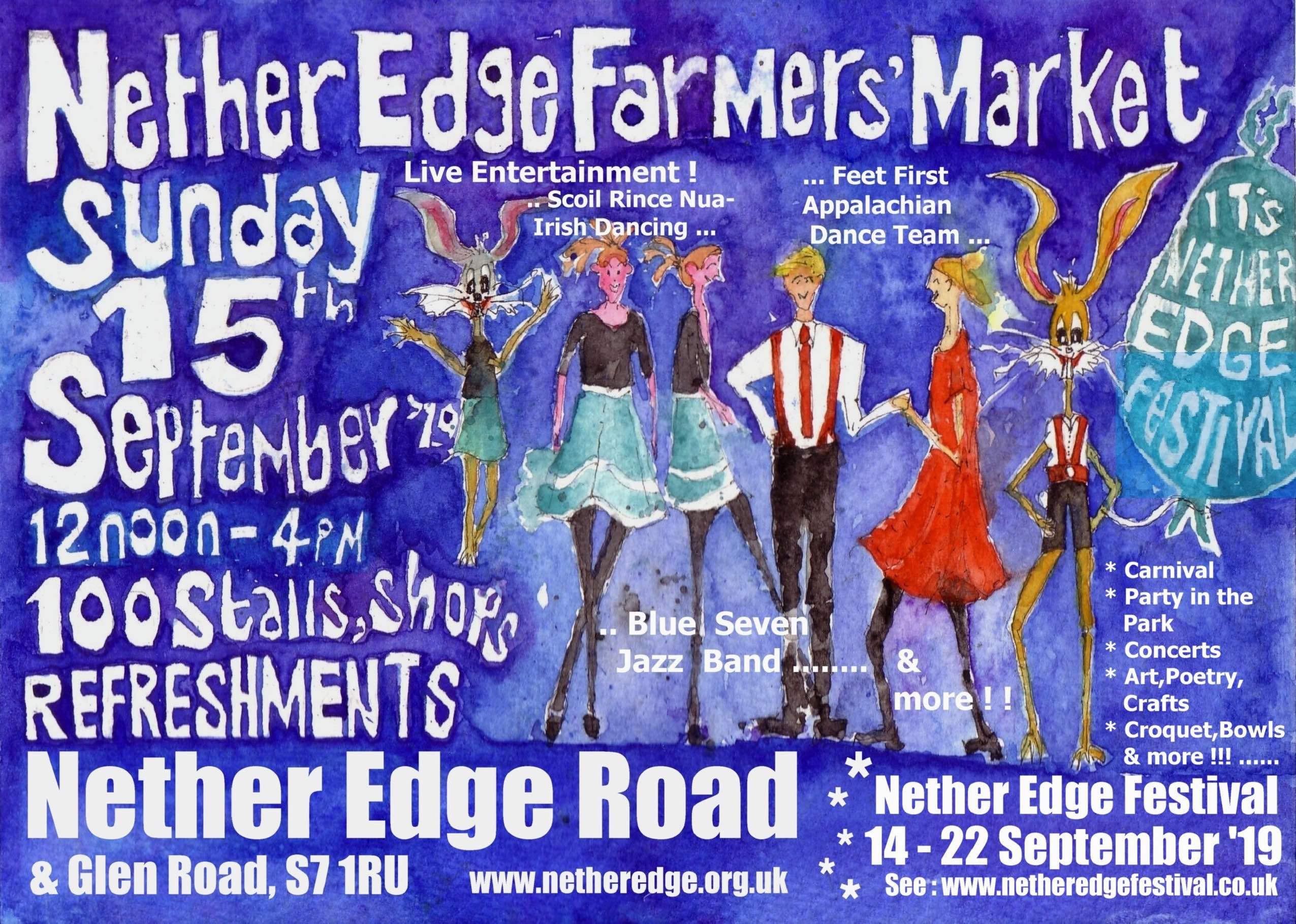 Nether Edge September 15th Farmers' Market poster