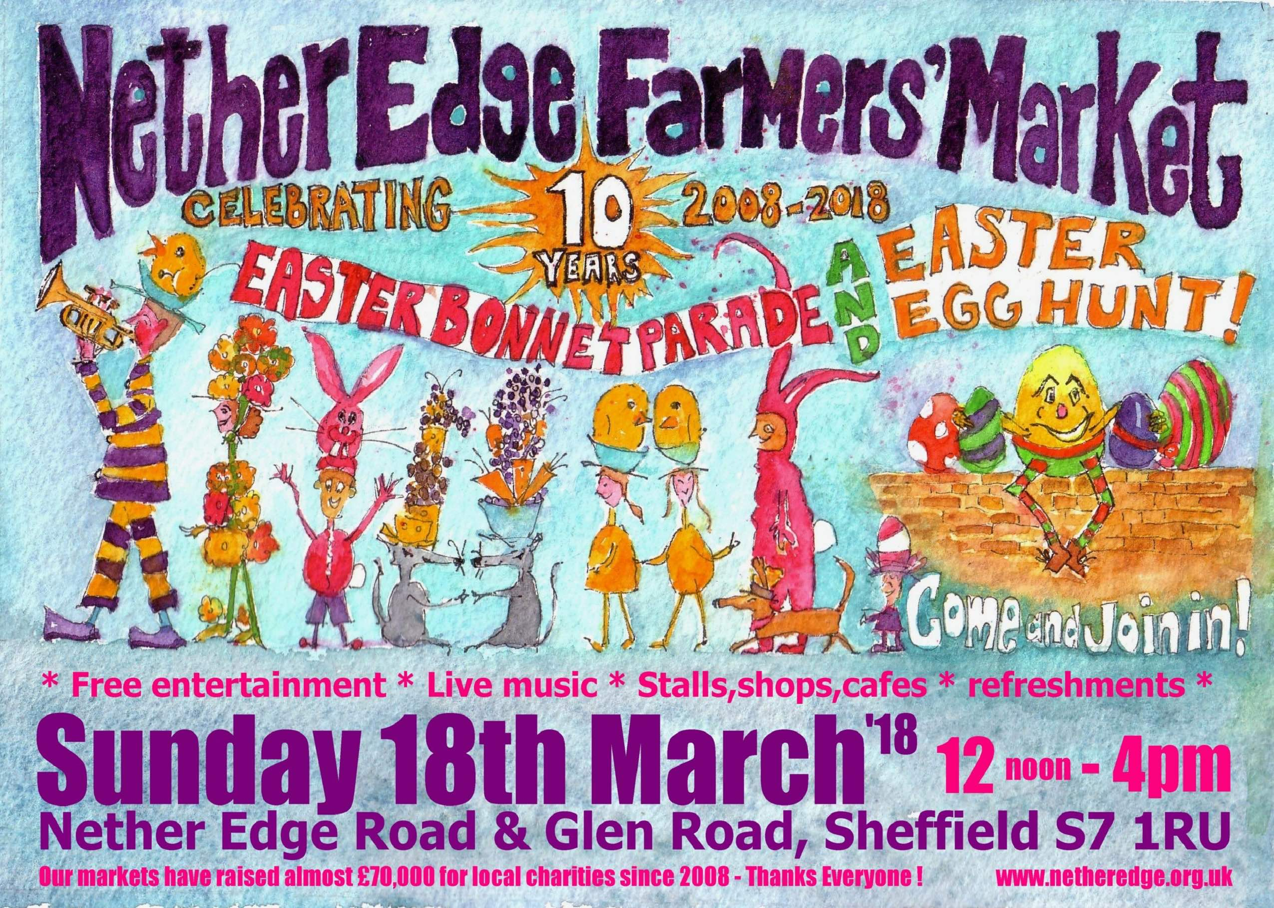 Nether Edge Farmers Market 18 March - 10th anniversary