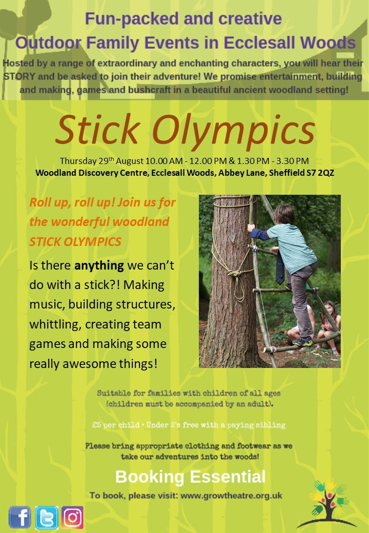 Grow Theatre's Stick Olympics activity day on 29th August 2019